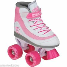 Roller Derby Firestar Kids Girls Pink Quad Roller Skates Us Size 4 FREE POST