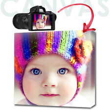 YOUR PHOTO CANVAS PRINT personalised GIFT ready to hang - SQUARE