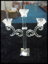 DINNER TEA LIGHT CRYSTAL CANDLE HOLDER 3 HEADS BRAND NEW