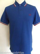 FRED PERRY T-Shirt Men's Twin Tipped Polo Regular Fit M1200 Royal Size: Small