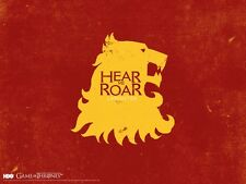 Game of Thrones Hear me Roar Lannister poster print giclee 8X12&12X17