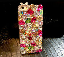 For Mobile Phone Luxury Colorized Crystals Rhinestones Bling Lovely Heart Case