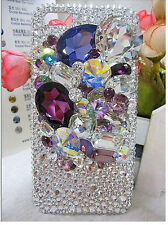 For Mobile Phone Sparkly Crystals Rhinestones Bling Luxury Gems Hard Cover Case