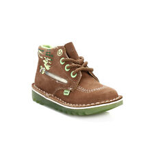 Kickers Kids Boots Star Wars Infant Light Brown Yoda Lightsaber Lace Up Suede