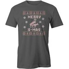Merry Xmas Deer Humping T-Shirt Christmas Sweater Style Dirty Adult Funny Tee Ne