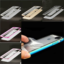Ultra Thin Aluminum Metal Bumper Clear Back Case Cover SKin Protector for iPhone
