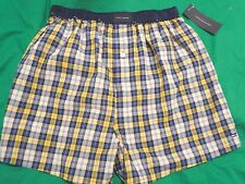 Tommy Hilfiger Men's Boxers, NWT, Multicolored Plaids, Cotton, Button Fly