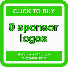 9 SPONSOR Logos Decals JDM Stickers - More than 400 logos to choose from