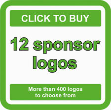 12 SPONSOR Logos Decals JDM Stickers - More than 400 logos to choose from
