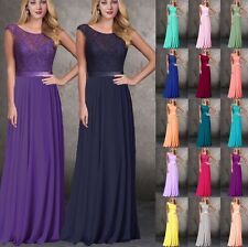 Chiffon & Lace Bridesmaid Dresses Floor Length Formal Evening Gowns Size 6++++18