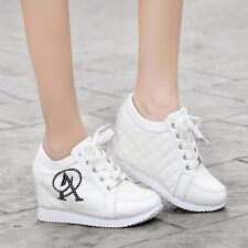 New Women's Wedge Heel Fashion Sneakers Athletic Sport Casual GYM Shoes Lace-up