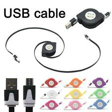Retractable USB Data Sync Charger Cable For iPhone 5S 6 6 Plus Android Phone Lot