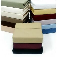 300 THREAD COUNT SOLID EGYPTIAN COTTON LUXURY BED SHEET SETS VARIOUS SIZES COLOR