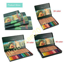 MARCO 24/36/48 Water Colour Color Artist Drawing Pencil metal Tin Set Sketch