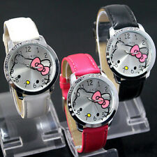 lovely hello KT Girls Ladies Women Wrist Quartz Watch Nice Kid's gift hellokitty