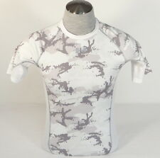 Under Armour White & Gray Camo Army Of 11 Football Compression Shirt Mens NWT