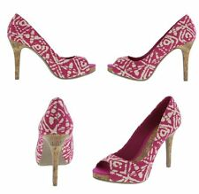 WOMENS Kate Platform PUMP HIGH HEEL CHRISTIAN SIRIANO PINK Peep Shoe sz 8 9 10