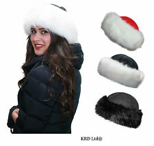 New High Quality Russian Cossack Style Ushanka Ladies Faux Fur Warm Winter Hat