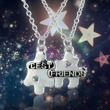 BEST FRIENDS BBF Pendant Necklace Set Jewelry Friendship Love Christmas Gift