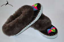 Ladies Womens Sheepskin Moccasin Fur Wool Boot Shoes Slipper Warm Made in Poland