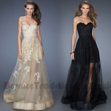 New Appliques Formal Prom Dresses Ball Party Cocktail Long Wedding Evening Gown