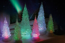 Noma Magical Crystal Waterfall Tree, Colour-Changing Xmas Light, 21cm or 32cm