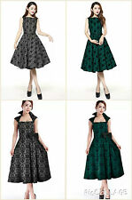 NEW AUDREY VINTAGE 1950 ROCKABILLY SWING EVENING BRIDESMAID PROM PARTY DRESS N52