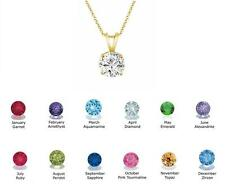 1.00 Ct Round Cut Birthstone Solitaire Pendant Necklace  Solid 10k Yellow gold