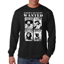 Americas Most Wanted Che Pancho Revolution Culture Long Sleeve T-Shirt