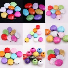 Multi-color Round/Heart/Oval Cracks Turquoise Spacer Beads  Jewelry Findings