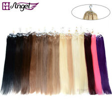 "100s20"" Easy Loop Micro Rings Beads 100% Real Human Hair Extensions Straight"
