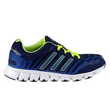 ADIDAS MENS CLIMACOOL AERATE 2 RUNNING TRAINERS NAVY/LUMINOUS YELLOW