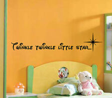 Twinkle twinkle little star Child's Wall Art Sticker Vinyl Bedroom Playroom Song
