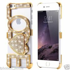 Luxury Bling Diamond LOVE Kickstand Gold  Bumper Case For iPhone 6/6s Plus 5.5""