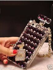 Handmade Purple Rhinestone Diamond Crystal Case Cover with Chain For iPhone 6/6s