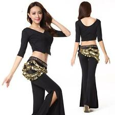 New Cheap Tribal Belly Dance Costumes Club Student 2Pics Top Pants Trousers M L