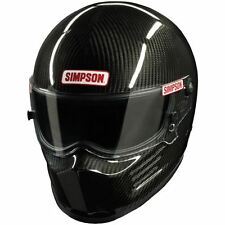 SIMPSON CARBON BANDIT HELMET SNELL SA2015 ALL SIZES MSA HANS