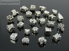 Tibetan Silver Big Hole Connector Metal Spacer European Charm Beads Findings #1