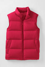 NEW LANDS' END Men's Tall Red 600 Fill Power Down Vest LT or XLT FREE SHIP