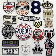 Classical Punk Rock Retro Pattern Embroidered Iron On Applique Patch Crafts DIY