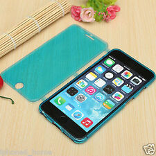 Transparent Blue Soft Silicone Gel Flip Case Cover For iPhone 6/6s & 6/6s Plus