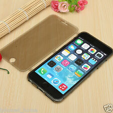 Transparent Grey TPU Soft Silicone Flip Case Cover For iPhone 6/6s & 6/6s Plus