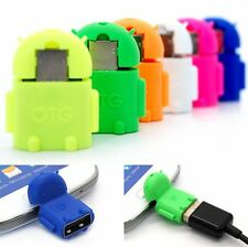 Robot Micro USB Host OTG Adapter Cable For Samsung Galaxy S3 S4 Note2 Sony Phone