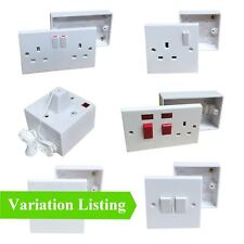 Sockets Switches & Cooker Spurs + Pattress Back Box White Electric Menu Options