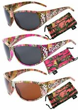 Hornz Pink & Hot Pink-Purple Camouflage Polarized Sunglasses Camo HZ98013-16
