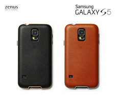 Zenus Barcelona Leather Case Cell Phone Back Cover Skin for Samsung Galaxy S5