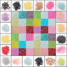 2000 pcs 2/3/4mm 18Colors half-round Flat back Acryl Pearl Scrapbooking Craft HN