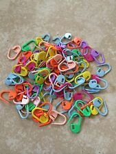 Locking Stitch Markers - Plastic Lock Ring - Assorted Colors - Choose Pack Size