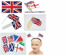 #UNION JACK STREAMER FLAGS SHIELD BUNTING DECORATION QUEEN'S JUBILEE OLYMPICS