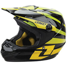 One Industries NEW Youth Mx Atom Twisted Yellow Green Kids Motocross Helmet